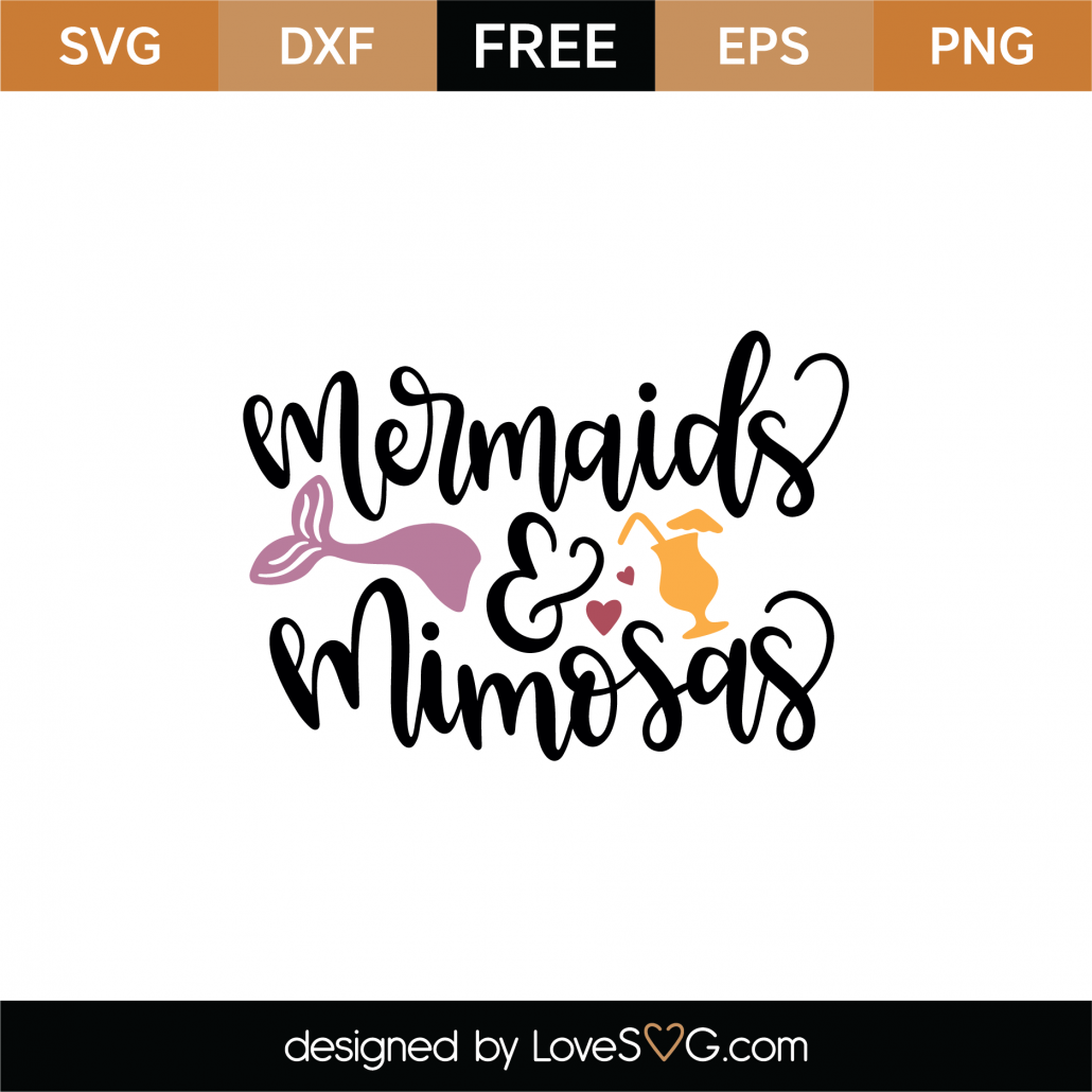Mermaids and Mimosas SVG Cut File 9018