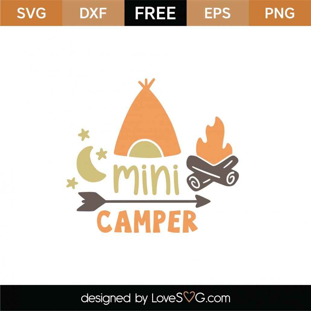 Mini Camper SVG Cut File 9026