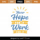 Never Hope For It Work For It SVG Cut File 8986