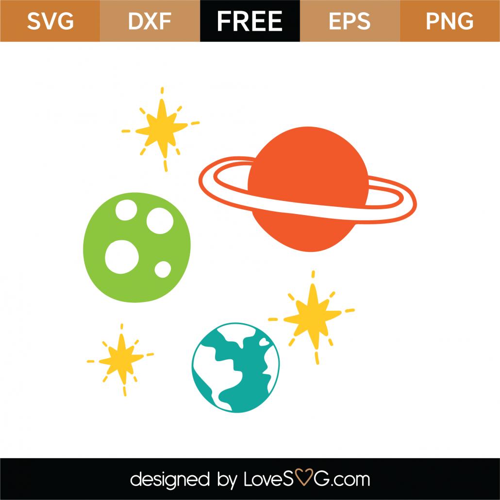 Planets Solar System SVG Cut File 8988