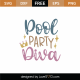 Pool Party Diva SVG Cut File 9005