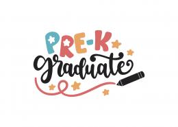Pre-K Graduate SVG Cut File 8969