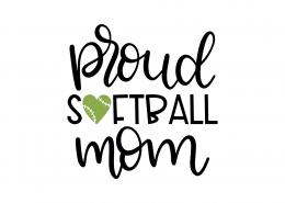 Proud Softball Mom SVG Cut File 8959