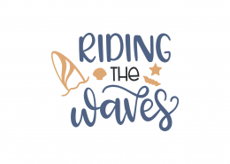 Riding The Waves SVG Cut File 9014
