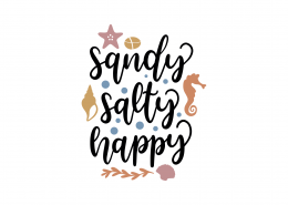 Sandy Salty and Happy SVG Cut File 8960