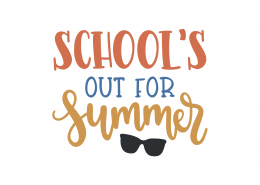 School's Out For Summer SVG Cut File 8970