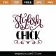 Stylish Chick SVG Cut File 8904