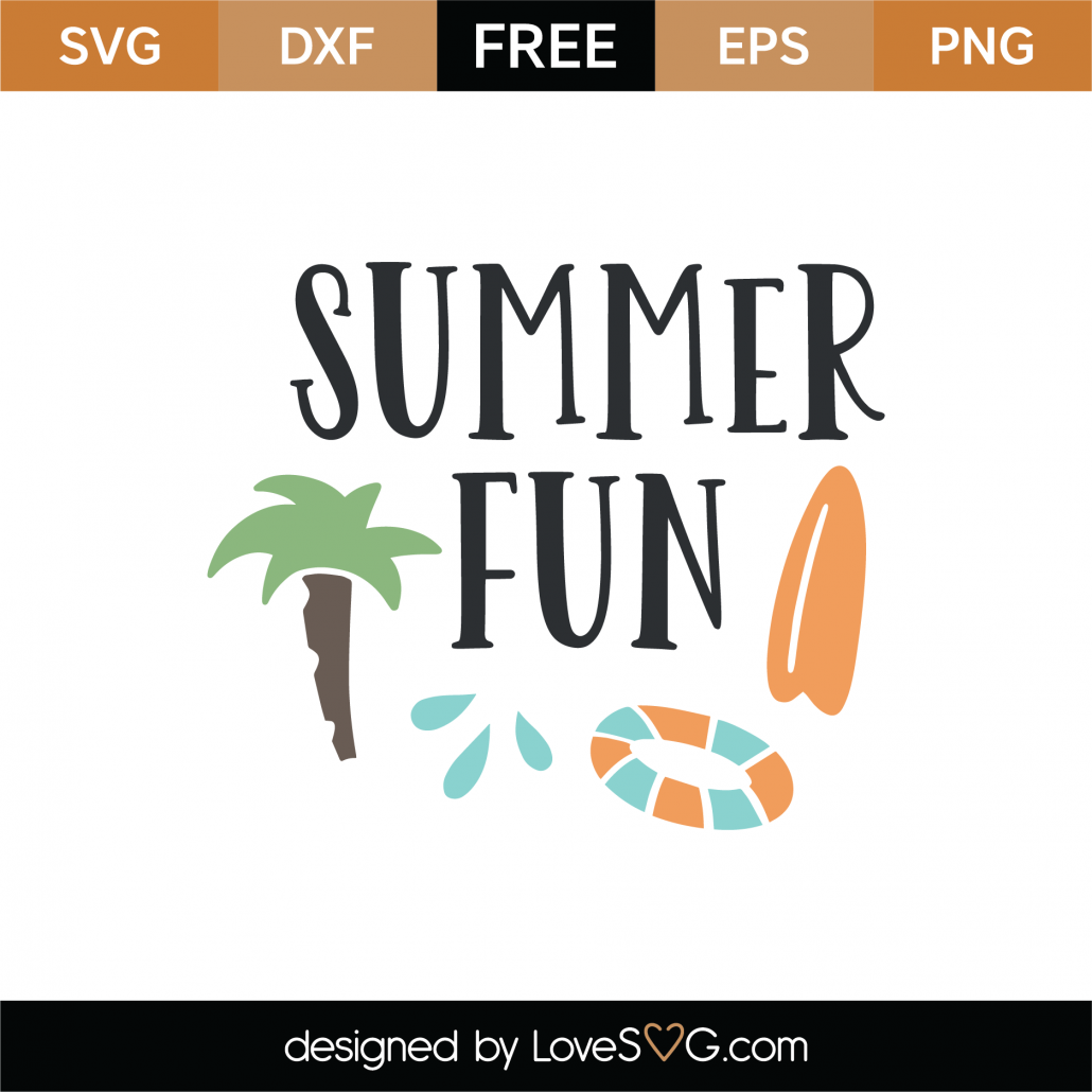 Summer Fun SVG Cut File 9036