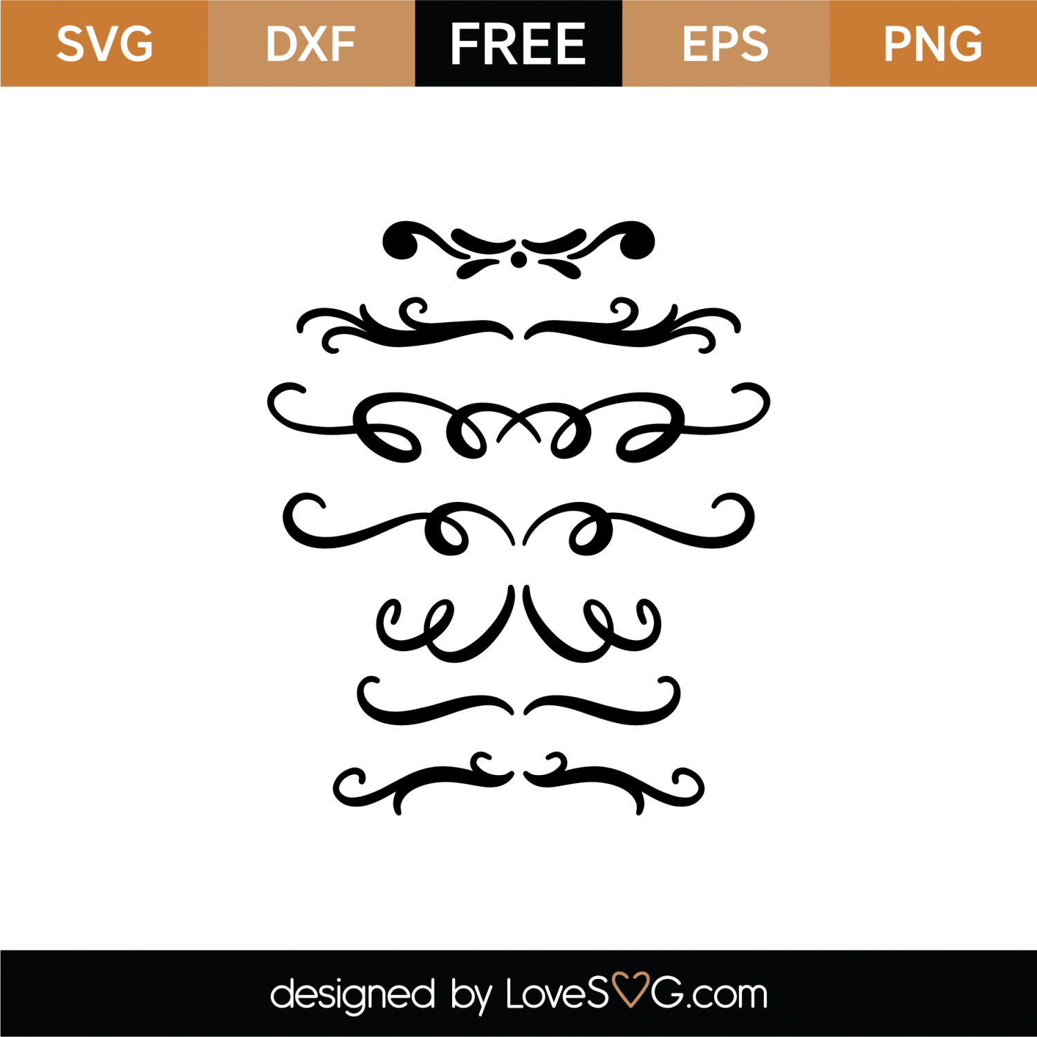 Free Swashes and Swirls SVG Cut File | Lovesvg com
