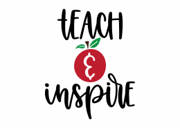 Teach and Inspire SVG Cut File 90047