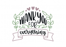 Thank You For Everything SVG Cut File 8891