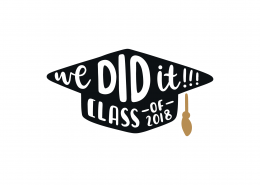 We Did It Class of 2018 SVG Cut File 8974