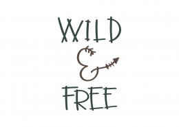 Wild and Free SVG Cut File 9046