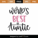 World's Best Auntie SVG Cut File 9042