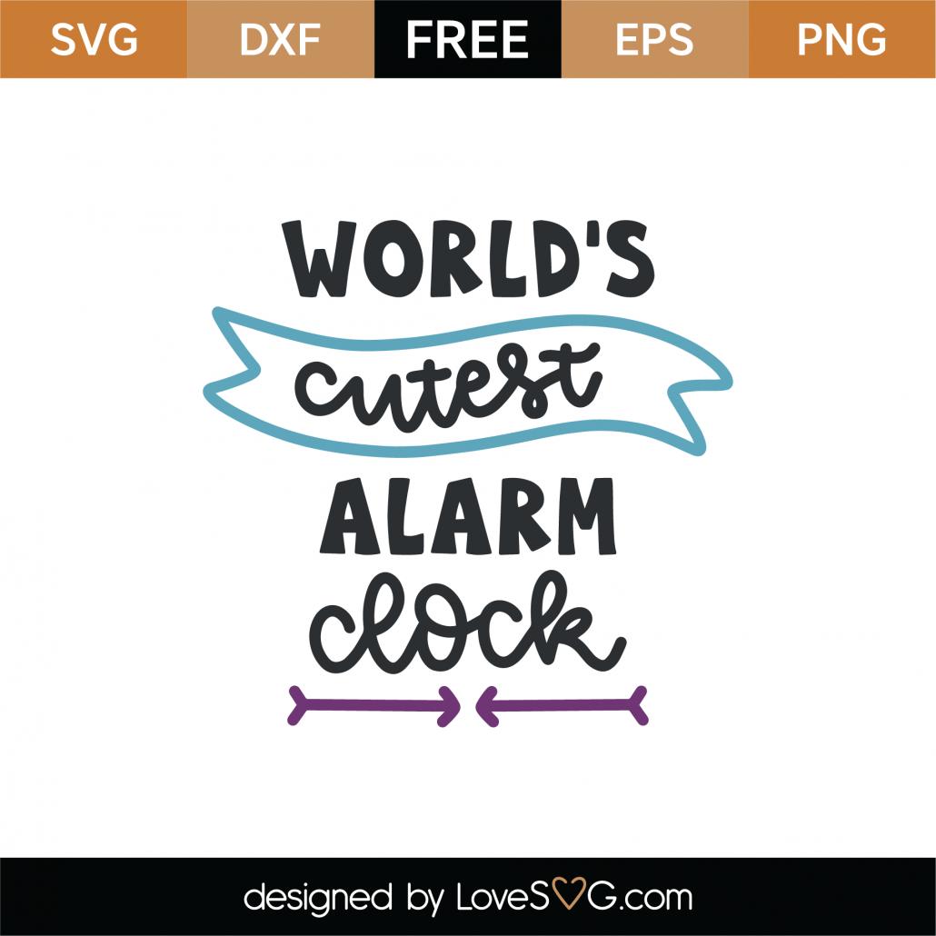 World's Cutest Alarm Clock SVG Cut File 8895