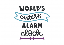 World's Cutest Alarm Clock SVG Cut File 8895