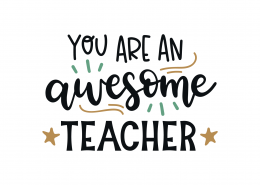 You Are An Awesome Teacher SVG Cut File 9043