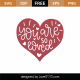 You Are So Loved SVG Cut File 8909