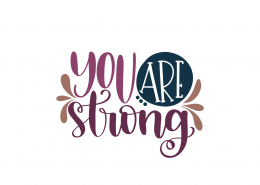 You Are Strong SVG Cut File 9053