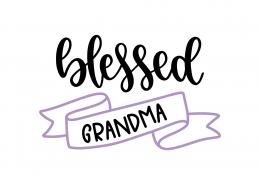 Blessed Grandma SVG Cut File 9187