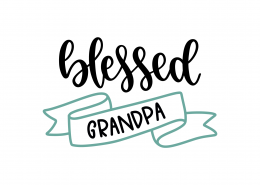 Blessed Grandpa SVG Cut File 9186