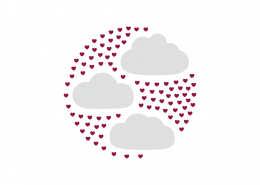 Clouds in the Heart SVG Cut File 9021