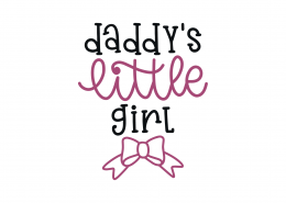 Daddy's Little Girl SVG Cut File 9185