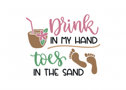 Drink In My Hand SVG Cut File 9183