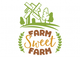 Farm Sweet Farm SVG Cut File 9097
