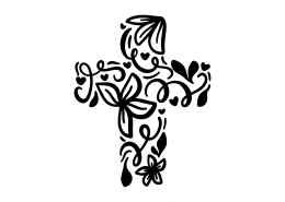 Flourish Cross SVG Cut File 9137