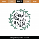 Forever And Ever Amen SVG Cut File 9049