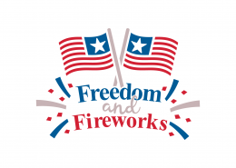Freedom and Fireworks SVG Cut File 9176