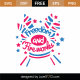 Freedom and Fireworks SVG Cut File 9181