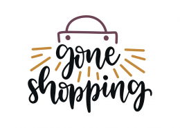 Gone Shopping SVG Cut File 9245