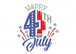 Happy 4th Of July SVG Cut File 9132