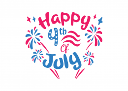 Happy 4th Of July SVG Cut File 9230