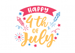 Happy 4th Of July SVG Cut File 9236