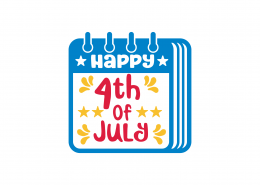 Happy 4th Of July SVG Cut File 9249