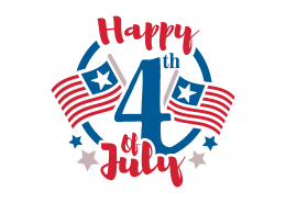Happy 4th of July SVG Cut File 9149