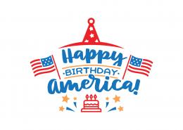 Happy Birthday America SVG Cut File 9093