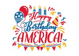 Happy Birthday America SVG Cut File 9119