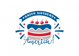 Happy Birthday America SVG Cut File 9157