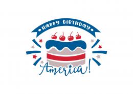 Happy Birthday America SVG Cut File 9157