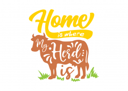 Home Is Where My Herd Is SVG Cut File 9026