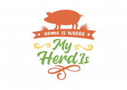 Home Is Where My Herd Is SVG Cut File 9084