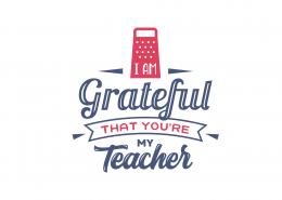 I Am Grateful That You Are My Teacher SVG Cut File 9076