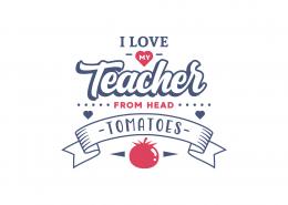 I Love My Teacher SVG Cut File 9077