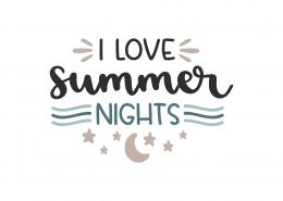 I Love Summer Nights SVG Cut File 9142