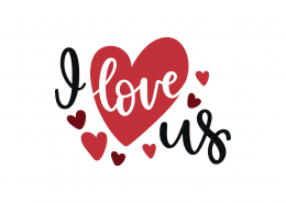 I Love Us SVG Cut File 9056