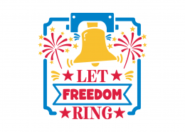 Let Freedom Ring SVG Cut File 9239